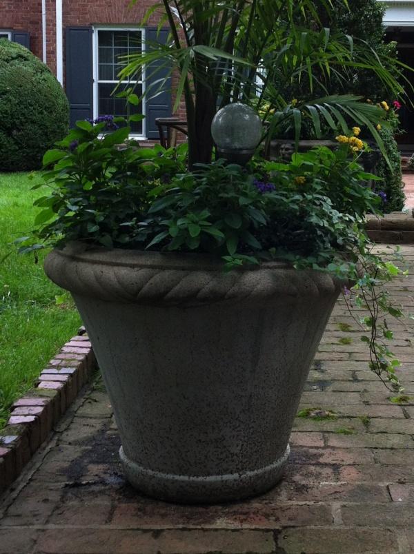 "#010 Manor House Planter, Dia., Exterior: 29 1/2""; Interior: 27""; Base: 14 1/2""; Height: 22 1/2"" (184 lbs.)"