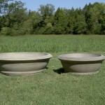 "#020, Anderson Bowl Planter, Dia., Exterior: 48 3/4""; Interior: 41 3/4""; Base: 36""; Height: 14 1/4"" (450 lbs.) #061 Small Anderson Bowl Planter, Dia:, Exterior: 35 1/2""; Interior: 28 5/8""; Height: 13 3/16""; Base: 24"" (271 lbs.)"