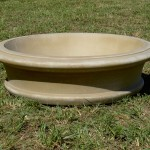 "#054 Fairfield Bowl Planter, Dia., Exterior: 41""; Interior: 33 1/4"",; Base: 32""; Height: 11"" (325 lbs.)"