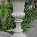 "#059 Tall Fluted Urn, dia.: 20 3/4""; Base 15"" x 15""; Height: 45 1/4"" (227 lbs.)"