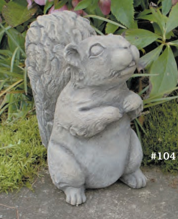 "#104 Furry Squirrel, 7 1/4"" H x 6 3/4"" L x 4"" W (6 lbs.)"