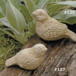 "#127 Laura Bird, 2 3/4"" H x 5"" L x 2"" W (1/2 lbs.), #126 Larry Bird, 3 1/4"" H x 5 1/2"" L x 2 1/2"" W (1 lb.)"