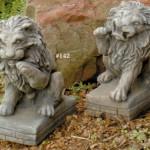"#141 Lion, 10"" H x  8 1/2"" L x 5"" W (9 1/2 lbs.), #142 Lion, 10"" H x 8 1/2"" L x 5"" W (9 1/2 lbs.)"