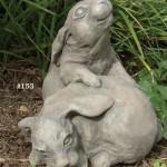 """#153 Snuggle Bunnies, l7 3/4"""" L x 6 3/4"""" W x 6 1/2"""" H (6.5 lbs.)"""