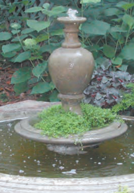 "#306-5 Anderson Fountain, Dia.: 48 3/4""; Height: 29 1/2"""