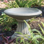 "#326 MINIATURE FLUTED BIRDBATH, 16-1/2"" W x 13"" T (32 lbs.), Small but wonderfull, a new design birdbath for intimate gardens or patios."