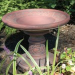"#331 MINIATURE CLOUD BIRDBATH, 16-3/4"" W x 13"" T (34 lbs.), With their overall cloud motifs, this piece is a perfect companion to the cloud Stepping Stone (301) and Cloud Planters (034 & 036)"