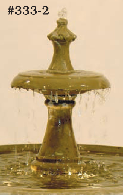"#333-2 Terrace Fountain with Tier, Dia.: 32 1/2""; Height: 30"" (185 lbs.)"