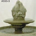 "#333-3 Terrace Fountain with Birds on Tier, Dia.: 32 1/2""; Height: 29 1/4"" (225 lbs.)"