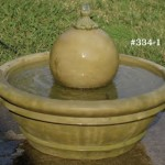 "#334-2 Patio Fountain with Sphere, Dia.: 23""; Height: 16"" (85 lbs)"