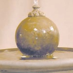 "#344-5 Russell Fountain with Sphere, Height: 39""; Dia.: 32 1/2"" (281 lbs)"