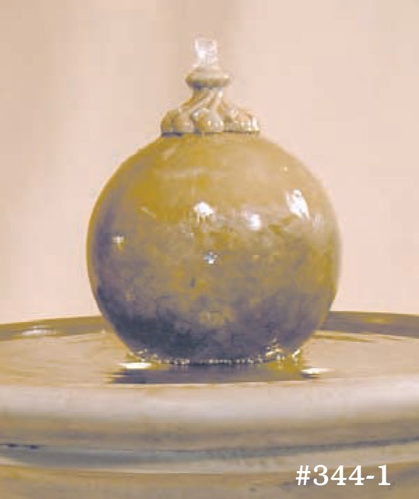 """#344-5 Russell Fountain with Sphere, Height: 39""""; Dia.: 32 1/2"""" (281 lbs)"""