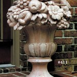 "Urn with Fruit, 34"" H x 20"" Diameter (254 lbs.) Restored and now reproduced by the Brookfield artists, this is the most handome large fruit urn we have seen."