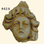 "#414 Three Faces, Average Size 7"" H x 7"" W; 3"" at thickest part. (Average Weight: 4 1/2 lbs.) Sold as a set."