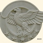 "#419 Eagle Plaque, 20"" x 16 1/4"" H x 1 1/2"" (17 lbs.)"