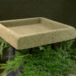 "#540 Large Square Trough, Approx. 22 1/4"" x 22 1/4"" x 4"" Tall (55 lbs.) Provides the perfect garden setting for Collectible Cottages."
