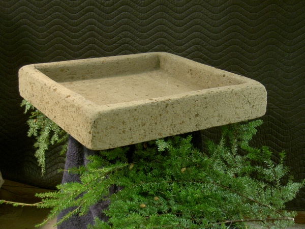 """#540 Large Square Trough, Approx. 22 1/4"""" x 22 1/4"""" x 4"""" Tall (55 lbs.) Provides the perfect garden setting for Collectible Cottages."""
