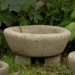 "#536 Large Round Trough on Planter Feet, #509 sold separately,  22"" x 10"" (70 lbs.)"
