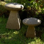 "#511 Staddle Sonte (20"") 20"" W x 19"" H (103 lbs.) and #511 B Small Staddle Stone, 14"" W x 16"" H (34 lbs.)"