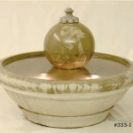 "#333-1 Terrace fountain with Sphere, Dia: 32 1/2""; Height: 20"" (216 lbs.)"