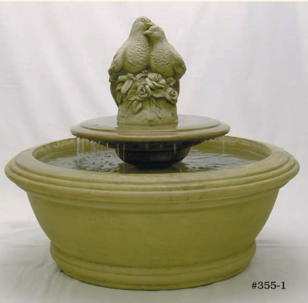 """#355-1 Small Anderson Fountain With Birds, Dia.: 35 1/2""""; Height: 28 1/2"""" (343 lbs.)"""