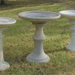 "#342 LG CLOUD BIRDBATH, 20"" W x 30"" T (94 lbs.), Coordinates with Cloud Stone #301, Southern Cloud Planter #036 and Oval Cloud Planter #034,  #324 Oakleaf Birdbath 27 1/2""w x 32 1/4"" tall, 147 lbs and #325 Eastview Birdbath 25"" w x 30 1/2"" tall, 127 lbs"