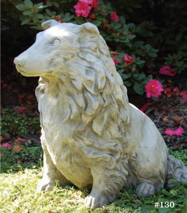 """#130 Sheltie Dog, 18 1/2"""" H x 19"""" L x 12"""" W (75 lbs.)"""