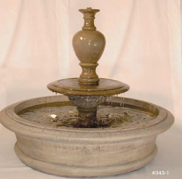 """#343-1 Fairfield Fountain with Urn, Dia.: 41""""; Base: 33"""" (475 lbs.)"""