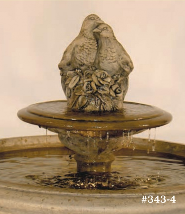 "#343-4 Fairfield Fountain with Tier & Birds, Dia.: 41""; height 29"" (392 lbs.)"
