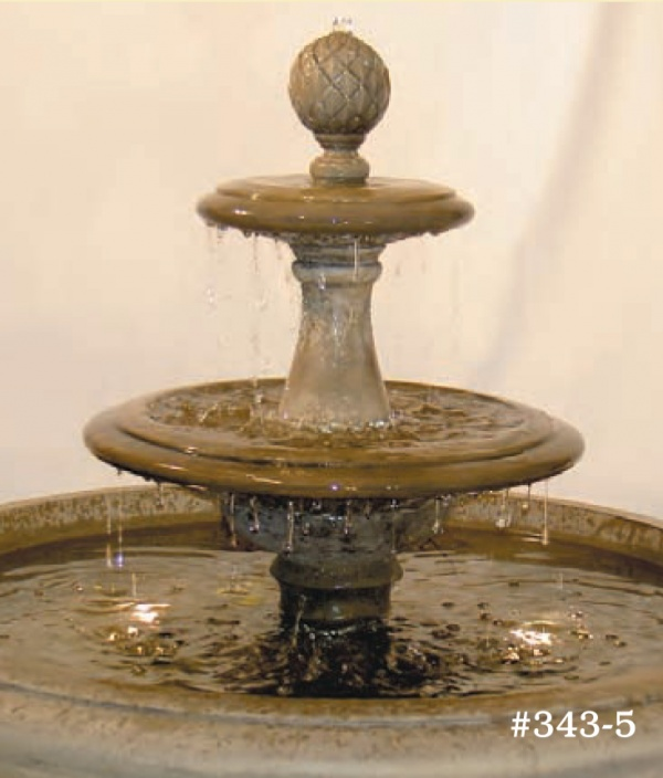 "#343-5 Fairfield Fountain with Tiers, Dia.: 41""; Height: 32"" (397 lbs.)"