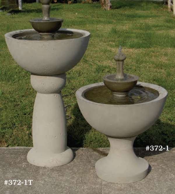 "#372-IT Jackson Fountain, Dia.: 21 3/4""; Height: 40 1/2"", #372-1S Short Jackson Fountain, Dia.: 21 3/4""; Height: 28 1/4"""
