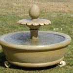 "#371-1 Lotus Fountain, Dia.: 48""; Height: 42"""