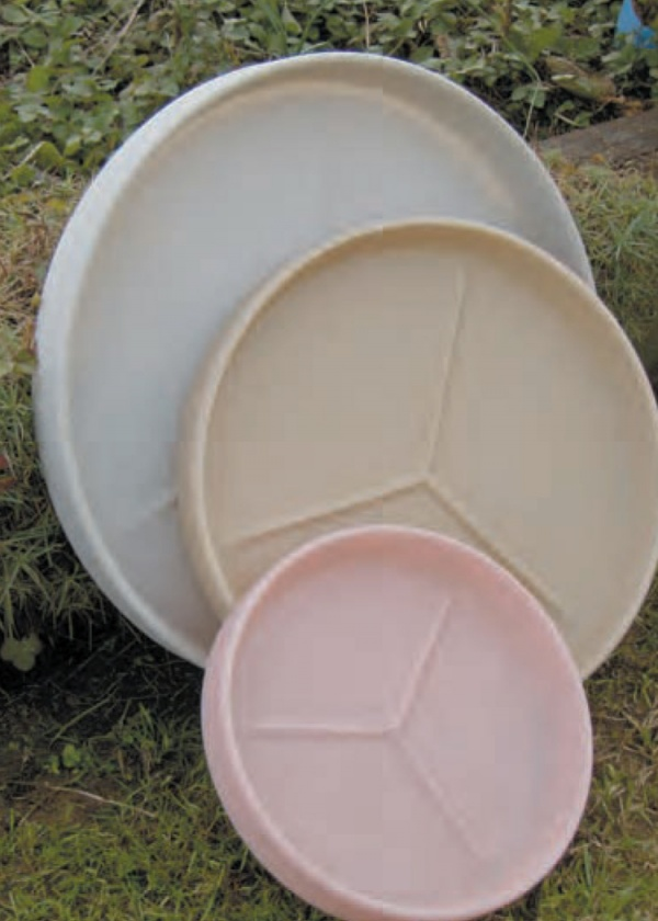 Heavy plastic saucers - call for more information