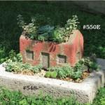 "#550E Roof Garden Cottage, Jasmine, 10.25"" W x 6.5"" Deep x 7"" (11 lbs.)"