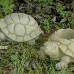 "Turtle Sculpture, 4 "" H x 9 1/2"" L x 7 1/2"" W (6 lbs.) With center knock out drain hole.,"
