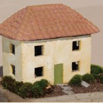 "#542B Two Story Tuscan Cottage, approximately 14 1/2"" x 9 1/2"" x 12"" H (26 lbs.)"