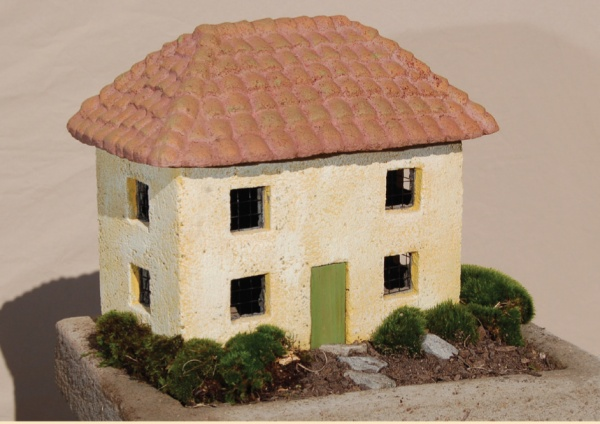 """#542B Two Story Tuscan Cottage, approximately 14 1/2"""" x 9 1/2"""" x 12"""" H (26 lbs.)"""