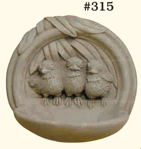 "#315 CHICKADEE BIRD FEEDER 8"" H x 8-1/2"" W x 4-1/2"" D (4 lbs.)"