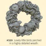 "#329 WREATH W/BIRDS 14-1/2"" Diameter x 4-1/2"" Deep (15 lbs.)"