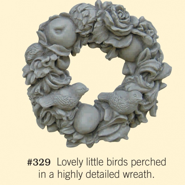 "#329 WREATH W/BIRDS 14-1/2"" Diameter x 4-1/2"" Deep (15 lbs.)"