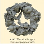 "#330 WREATH W/WINGED RATS 16"" Diameter x 4-1/2"" Deep (17 lbs. approx.)"