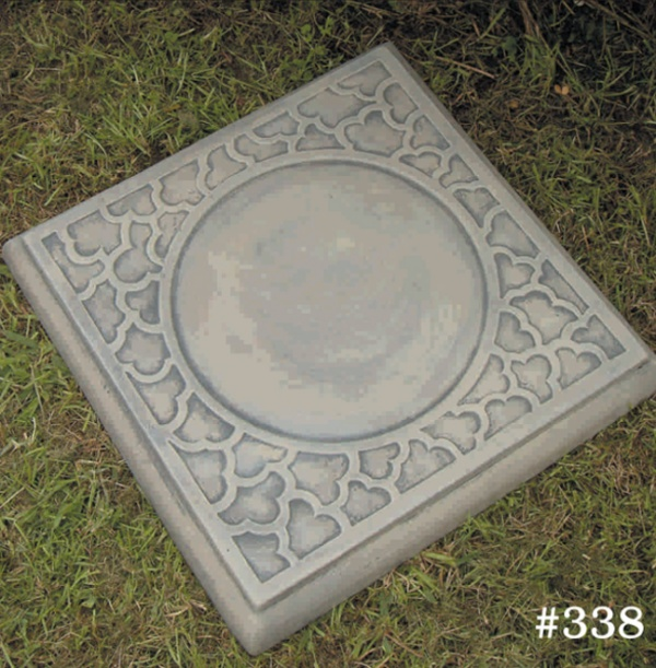 """#338 SQUARE CLOUD STEPPING STONE, 15-1/2"""" Square, 1-1/2"""" Thick (25 lbs.)"""