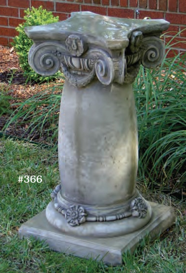 "#366 Classic Pedestal, 16 1/2"" x 16 1/2"" x 29 1/2"" T (196 lbs.) One piece, substantial and elegant."