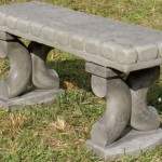 "#367 Button Top Bench, 44"" L x 14"" W x 18"" (320 lbs.) this most unusual soft looking bench is three sturdy pieces."