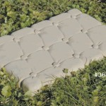 "#368 BUTTON TOP STEPPING STONE, 20"" L x 14"" W x 1-1/4"" Thick  (Weight: N/A)"