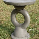"#370 Modern Pedestal, 23 1/2"" D top x 30"" T, This two piece pedestal doubles as a small garden table."