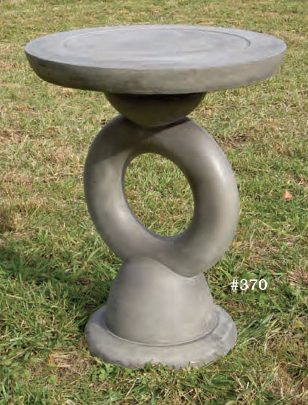 "#370 Modern Pedestal, 23 1/2"" D top x 30"" T, This two piece pedestal doubles as a small garden table."