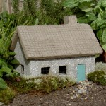 "#544 Gray Tabby Cottage, 14 1/2"" x 9"" x 10"" H (30 lbs.)"