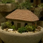 "#534 Italian Cottage, Approx. 14 1/2"" x 9 1/2"" x 10"" H (21 lbs.) Shown landscaped in #536 English Farm Sink."