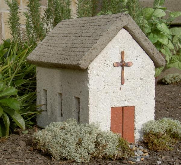 """#546 Village Church, 14 1/2"""" x 9 1/2"""" x 12 1/2"""" H (42 lbs.)"""